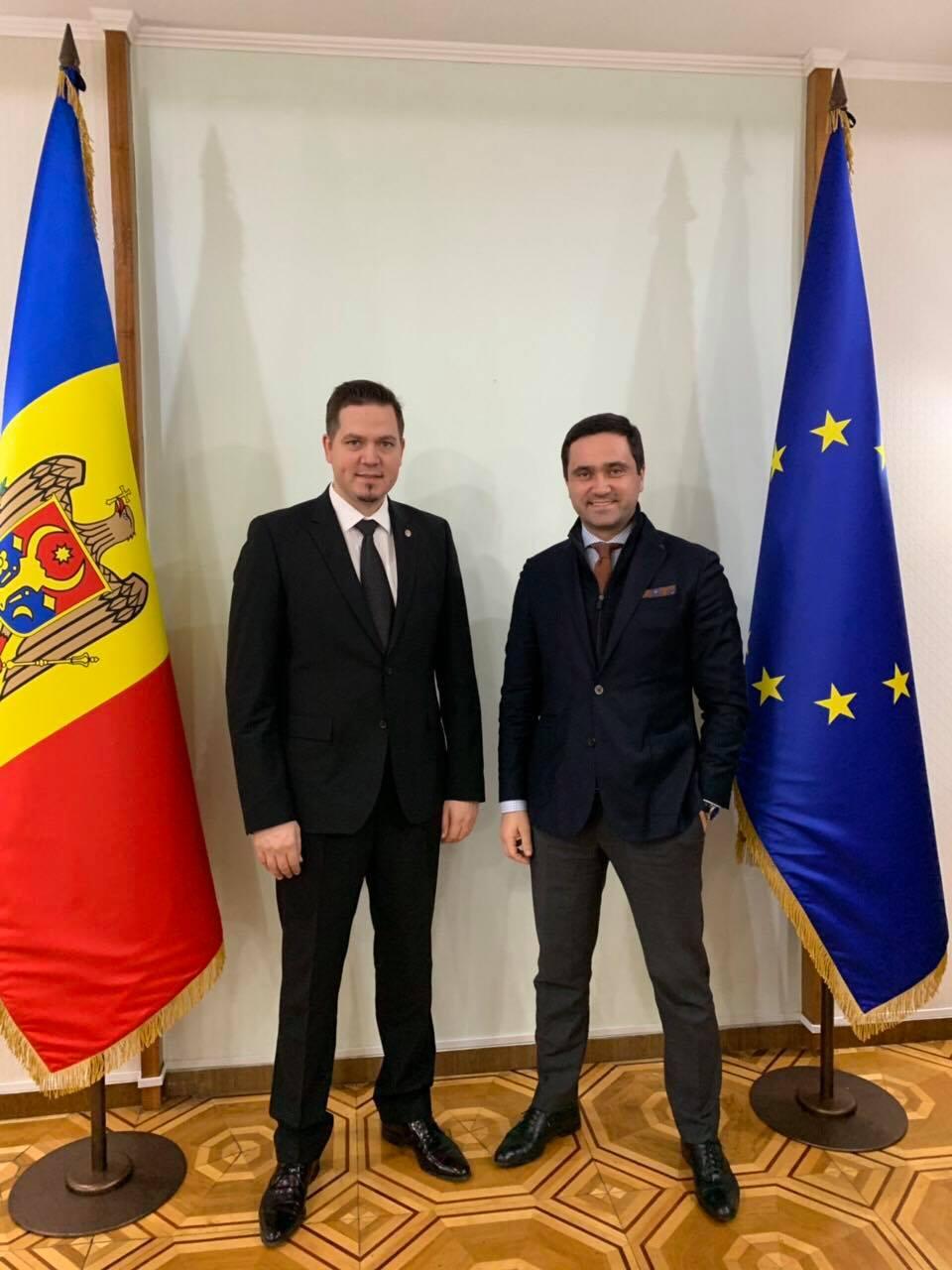 Intilnirea Presedintelui CCIMC si MinistruluiMAEIE al Republicii Moldova